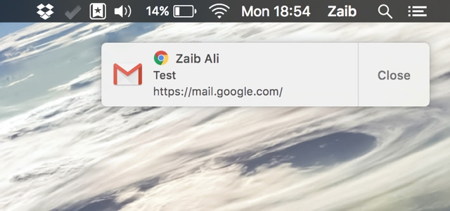 Native notifcations Chrome