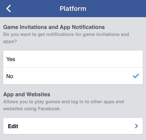 Facebook app notifications feat