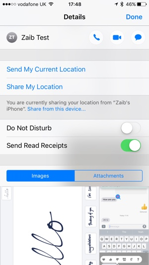 Individual read Receipts iOS 10