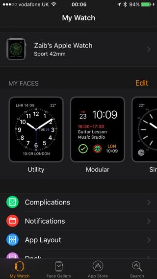 My Watch watchOS 3