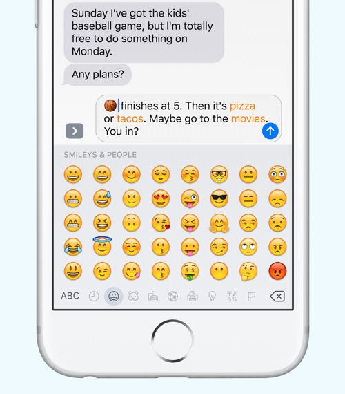 iOS 10 Messages Emoji