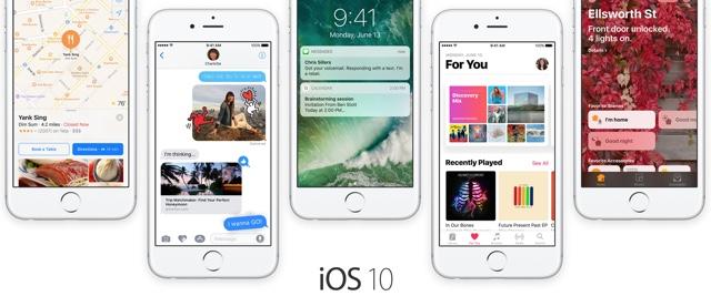 iOS 10 main