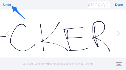 How To Erase Handwritten Message More Quickly In Messages