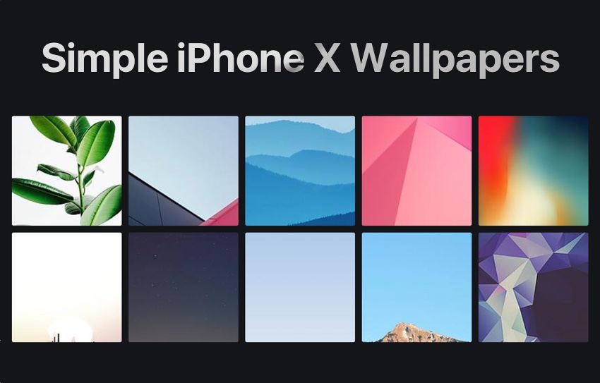 10 Simple Iphone X Wallpapers You Should Download Ep2 Ios Hacker