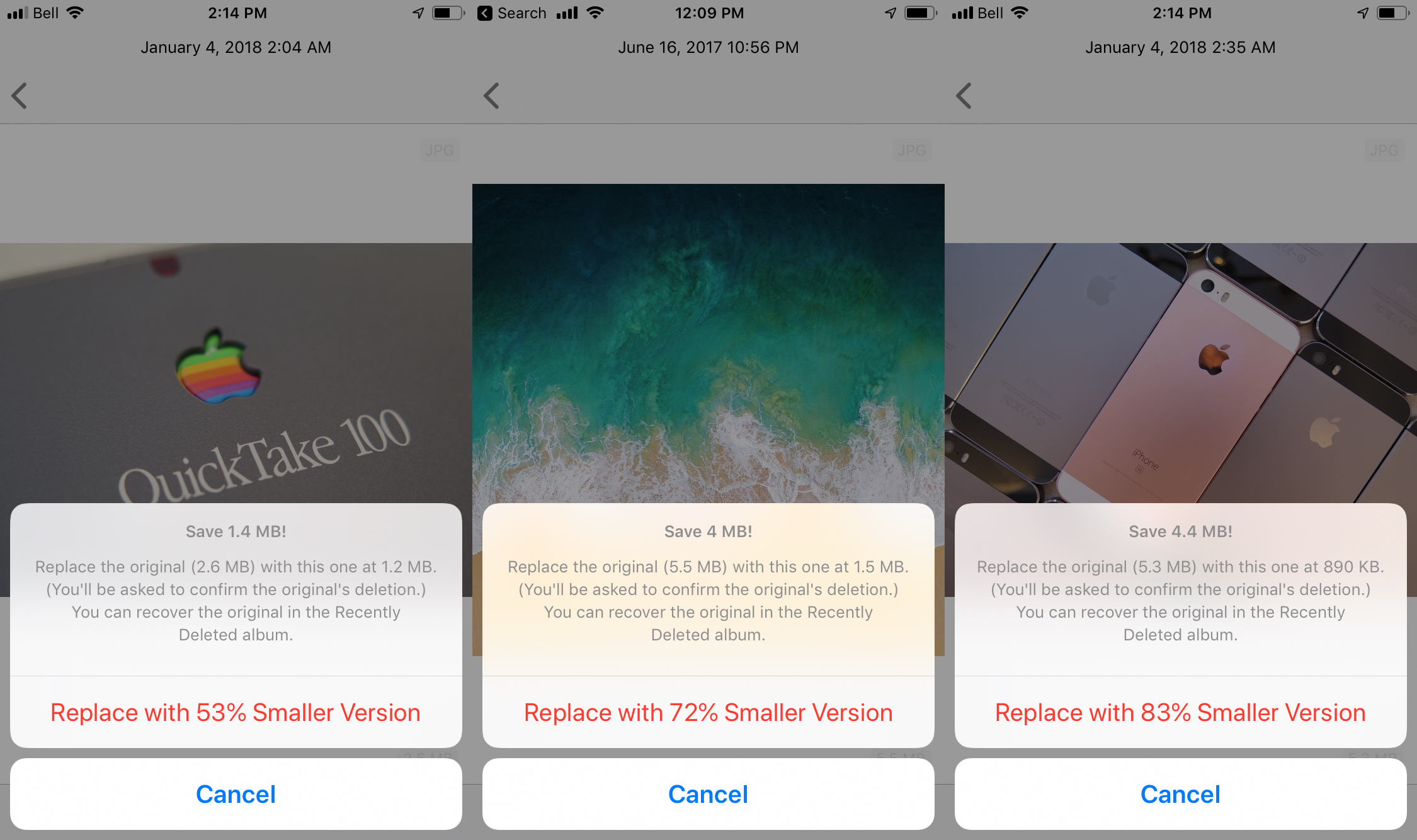 Half App For iOS Lets You Save Space On Photos Without