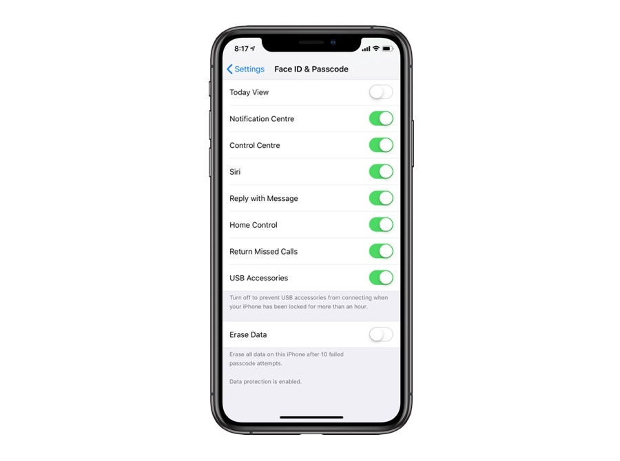 How To Enable USB Accessories Security Feature On iPhone
