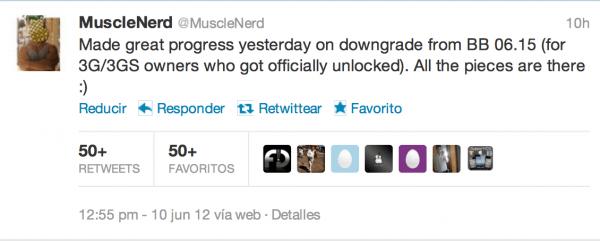 MuscleNerd confirma que se podrá bajar la baseband 06.15 por twitter