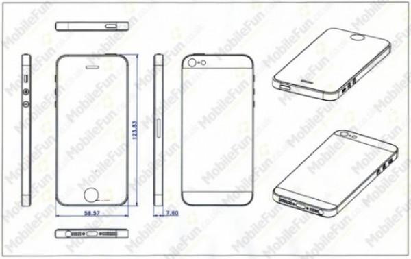 Filtrados planos del iPhone 5 que confirman que será más alto y delgado
