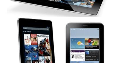 apple iPad, Samsung nexus 7