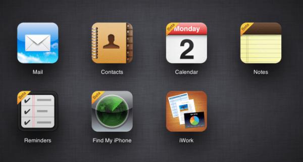 Apple lanza el sitio beta de iCloud.com para los desarrolladores con notas, recordatorios, calendario y Find my iPhone mejorados
