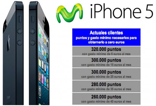 Precio iPhone 5 Movistar