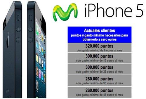 Precio iPhone 5 Movistar