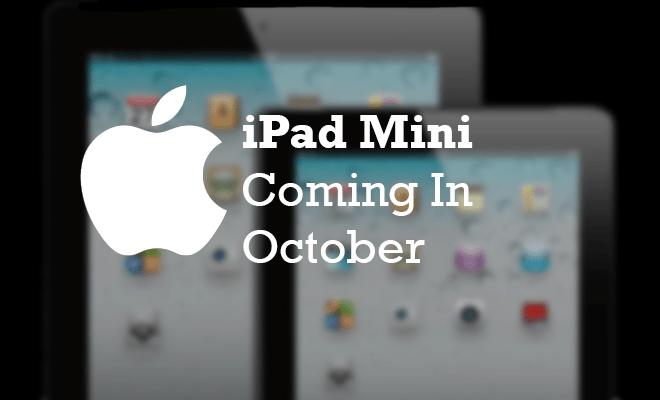 Confirmado. Presentación de Apple el 23 de Octubre, tendremos iPad mini.
