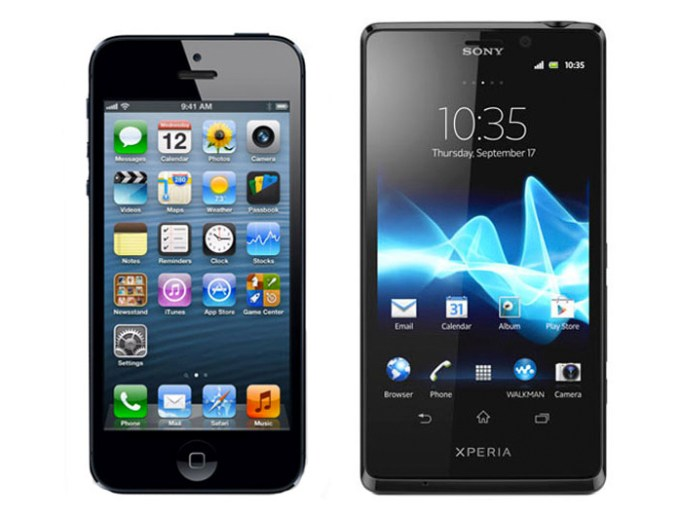 iPhone 5 de Apple vs Xperia T de Sony