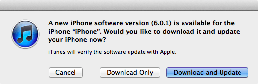 iOS 6.0.1 ya disponible