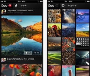 500px, nueva app para iPhone ya disponible