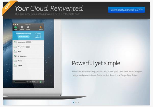 sugarsync 2.0 beta OS X