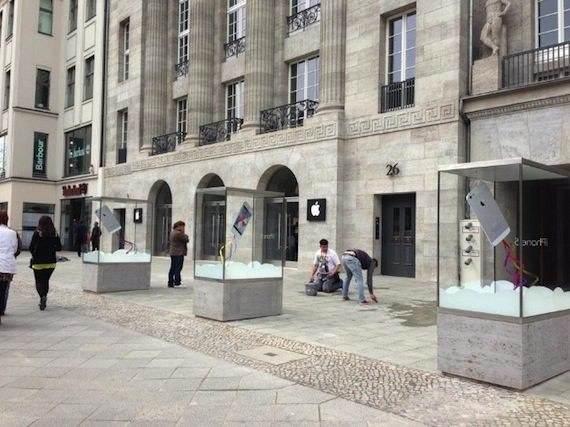 escaparate Apple Store de Berlín