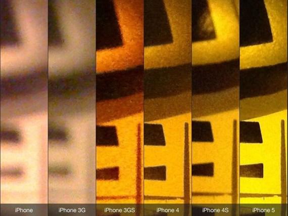 capturas de la cámara de los diferentes iPhones