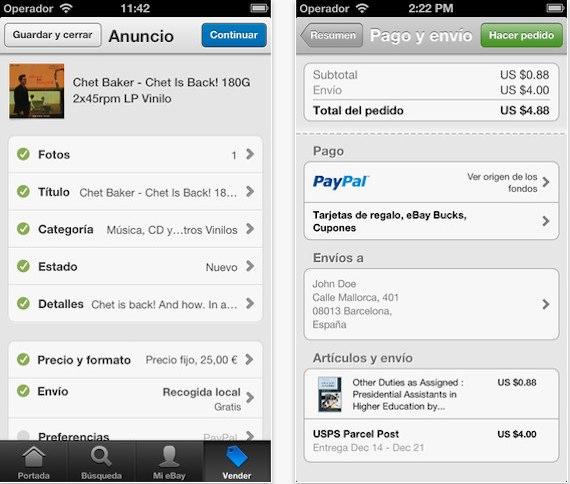 ebay ios app how to sell