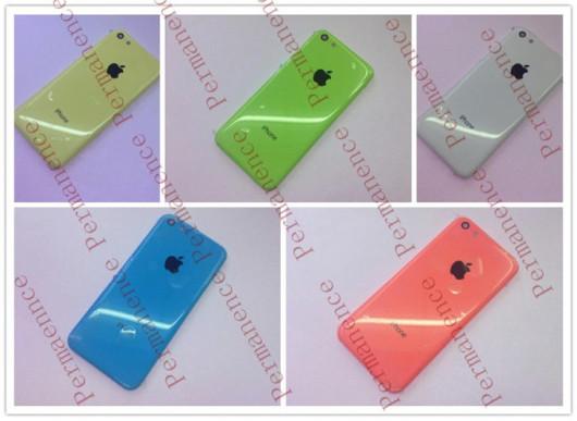 iPhone low cost en 5 colores distintos