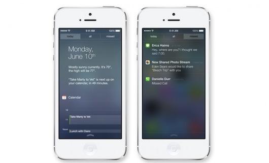 notificaciones-en-iOS-7-novedades que Apple ha incluido en la versión final de iOS 7