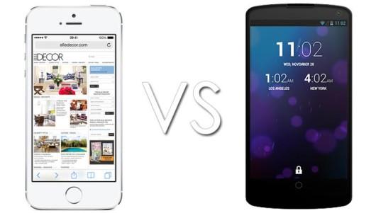Nexus 5 vs iPhone 5S-530x301