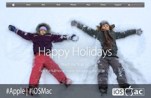 Apple decora su página Web para la Navidad