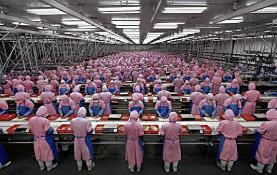 Trabajadores de Foxconn preparados para el iPhone 7