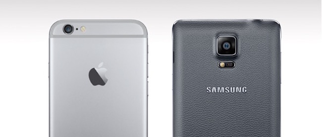 Trasera iPhone 6 y 6 Plus vs Galaxy Note 4