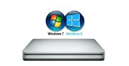 SuperDrive de Apple en Windows 7 y Windows 8 -iosmac