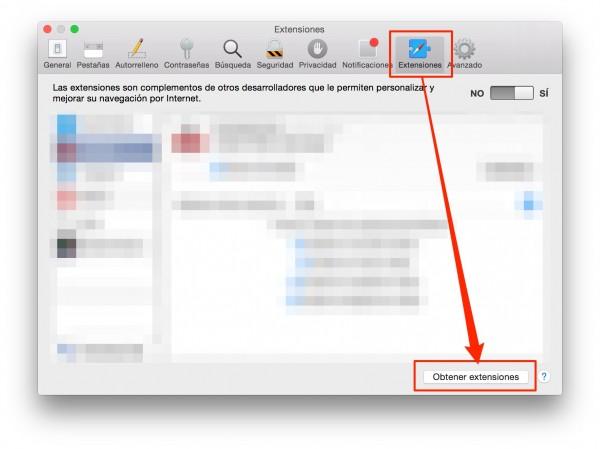 Safari Extensions / Extensiones Safari