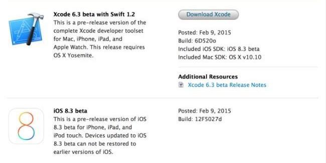 Apple lanza la primera beta de iOS 8.3