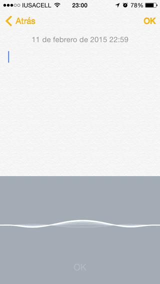 Dictado iPhone
