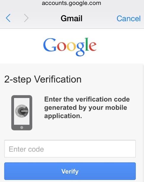 google-2-pasos- ios 8.3