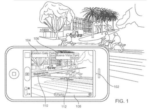 Patente-de-Apple-sobre-realidad-aumentada-en-el-iPhone
