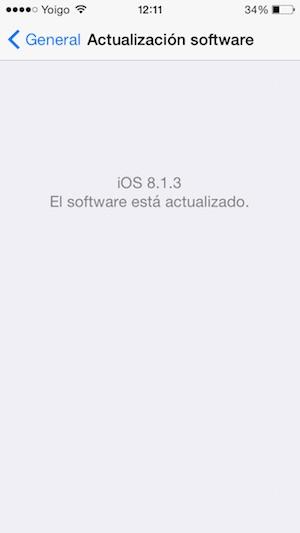 actualizacion ios 8.1.3