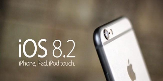 iOS 8.2 lanzado lunes 9 marzo
