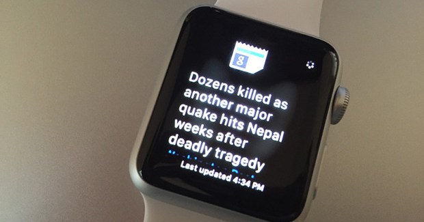 Google News & Weather llega al Apple Watch