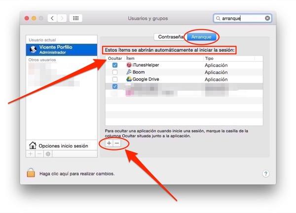 Oculta aplicaciones que se inician con el arranque del Mac