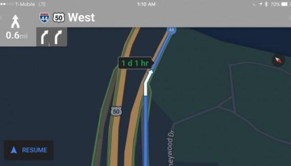 Nuevo modo nocturno en Google Maps para iOS