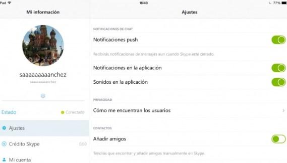 Actualización de Skype para iPhone y iPad
