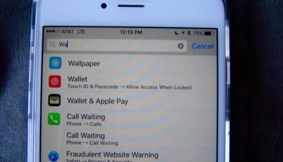 Cómo encontrar diferentes ajustes de configuración en iOS 9