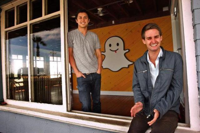 Bobby Murphy y Evan Spiegel,creadores de Snapchat.