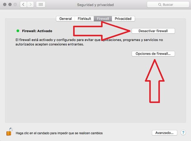 firewall-opciones