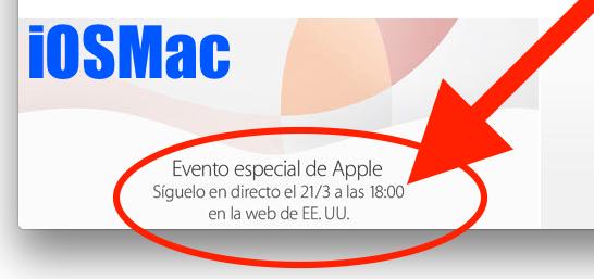 La Keynote del día 21 será a las 18h española y no a las 19h