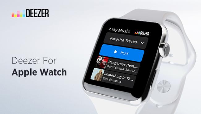 Deezer: llega la app para el Apple Watch