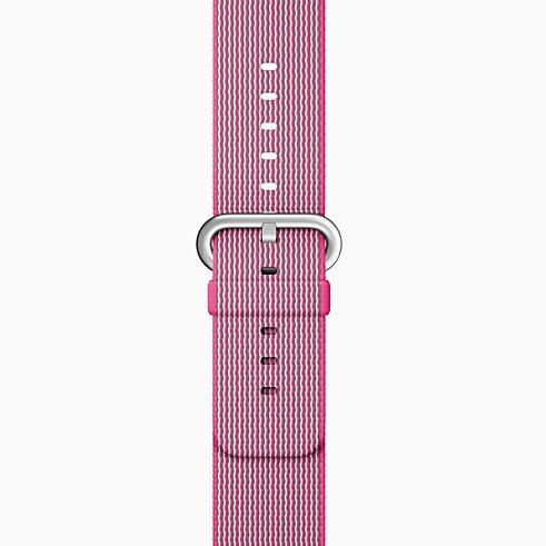 nylon-band-pink-apple watch
