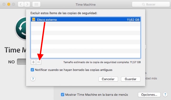 time-machine-eliminar-disco