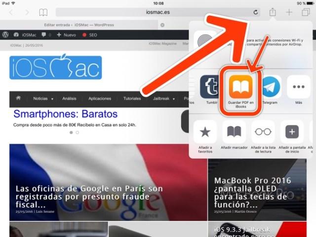 Guardar web pdf ibook ios